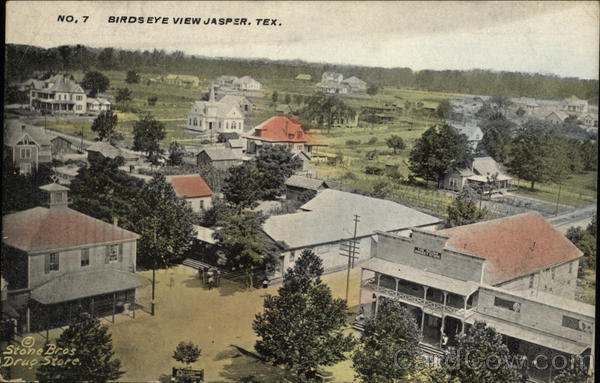 Bird's Eye View of Town Jasper Texas