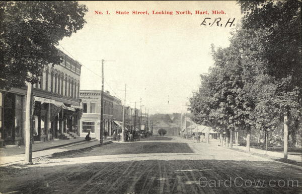 State Street, looking North Hart Michigan