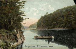 Fishermen on Esopus Creek