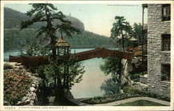 Rustic Bridge and Water View, Lake Mohonk