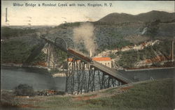 Wilbur Bridge & Rondout Creek with Train