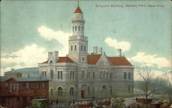 Bird's Eye View of Emigrant Building, Battery Park