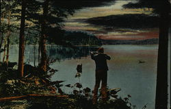 Hunting on Cranberry Lake Postcard