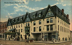Street View of Shuler House Postcard
