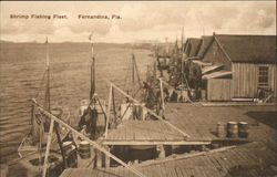 Shrimp Fishing Fleet Fernandina Beach, FL Postcard