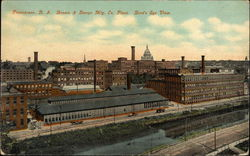 Bird's Eye View of Brown & Sharps Manufacturing Company Plant
