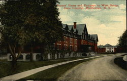 Nurses' Home and Entrance to West Group State Hospital