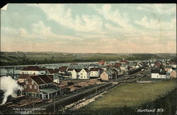 View of Hartland and Railroad Tracks