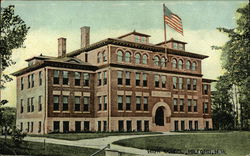 The High School Building, With Flag Flying
