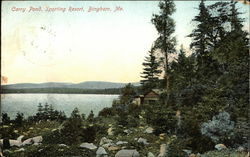 Carry Pond, Sporting Resort Postcard