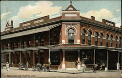 Street View of Oklahoma Building Postcard