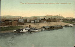 View of Cincinnati Boat Landing from Kentucky Side Postcard