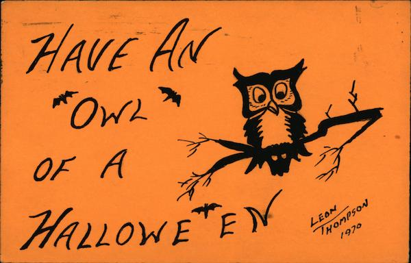Have An Owl Of A Halloween Leon Thompson