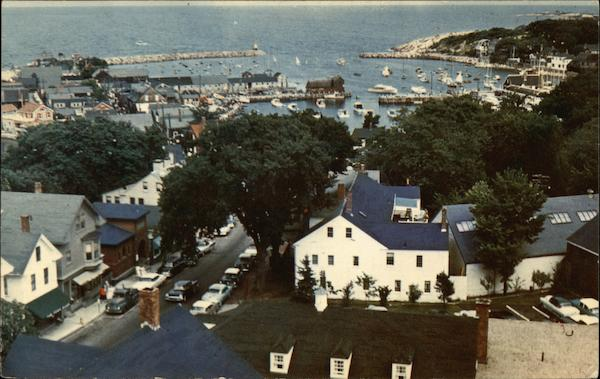 Rockport Harbor from The Old Sloop, Cape Ann Massachusetts