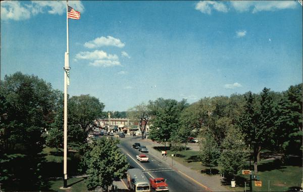 View of Central Street from Wellesley Square Massachusetts