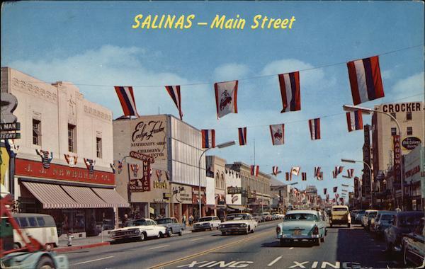 Main Street Salinas Ca Postcard