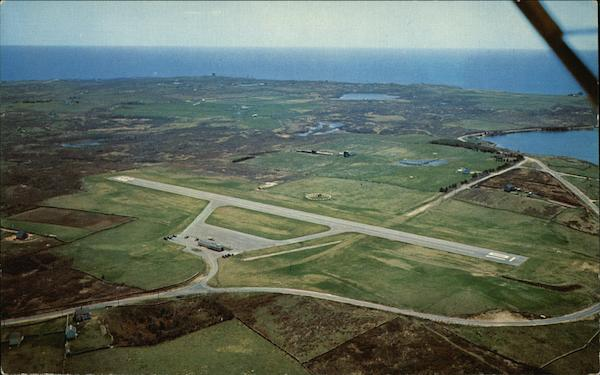 Aerial View of Airport Block Island Rhode Island Airports