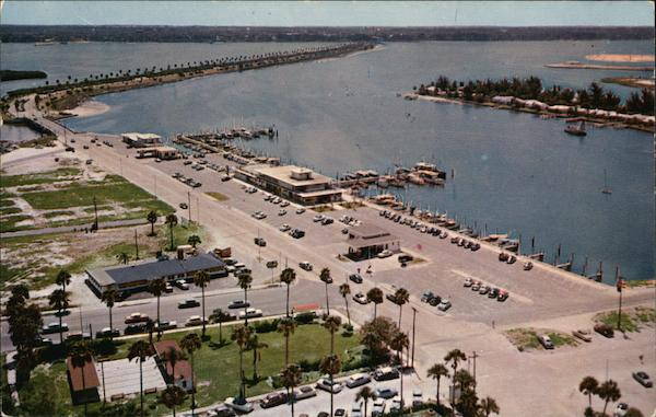 Air View of Marina with Causeway to the Mainland in the Background Clearwater Beach Florida