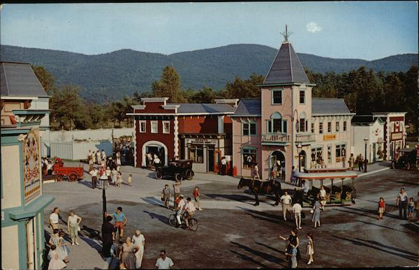 gaslight village lake george  ny postcard