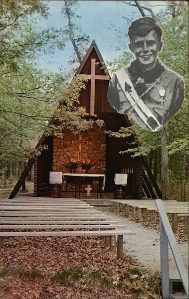 St Philip S Chapel Camp Harrison Child Manomet Ma Postcard
