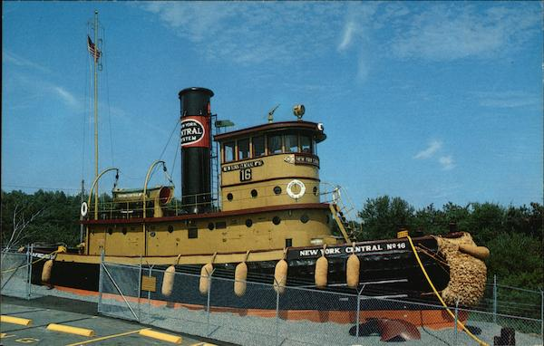 1924 Railroad Steam Tugboat New York Central No. 16, Grandma's Restaurant Buzzards Bay Massachusetts