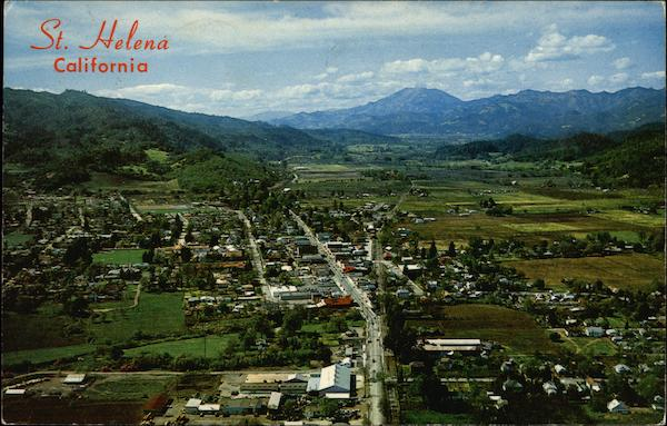 Aerial View of St. Helena California Saint Helena