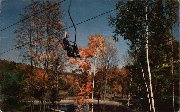 Riding Aerial Chairlift Mount Sunapee New Hampshire