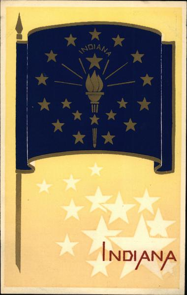 Indiana State Flag Serigraph Flags