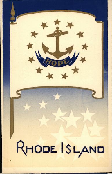Rhode Island State Flag Serigraph Flags
