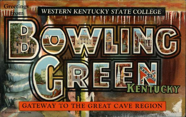 Greetings from Western Kentucky State College Bowling Green