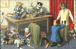 Cats Family at the Tailors