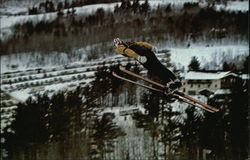 Jumper in Flight, Pine Mountain Ski Jump
