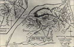 Map of Battle of Pea Ridge or Elkhorn Tavern