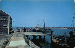 Scene at Old Harbor with Fishing Fleet in the Background