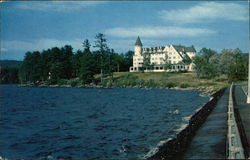 Lake Front and Bay of Naples Inn Postcard