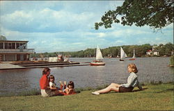 Watching the Sailboats on Lake Quinsigamond at Quinsigamond State Park