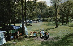 Tents and Campers at Zealand Campground Postcard