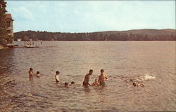 Bathing at Camp Notre Dame, Lake Spofford