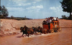 Fording the Stream in a Stagecoach at Pleasure Island