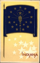 Indiana State Flag Serigraph