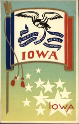 Our Liberties We Prize And Our Rights We Will Maintain Iowa Serigraph