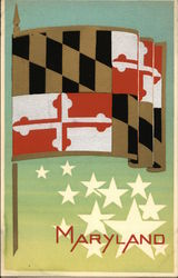 State Flag of Maryland Serigraph