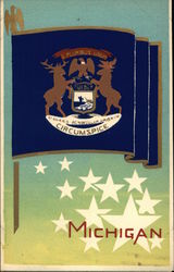 State Flag of Michigan Serigraph