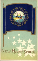 New Hampshire State Flag Serigraph