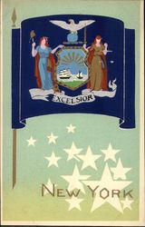New York State Flag Serigraph