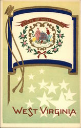 West Virginia State Flag Serigraph
