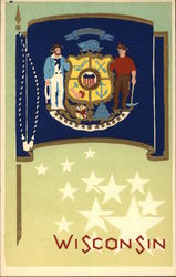 Wisconsin State Flag Serigraph