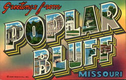 Greetings from Poplar Bluff Postcard