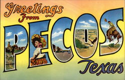 Greetings from Pecos Postcard