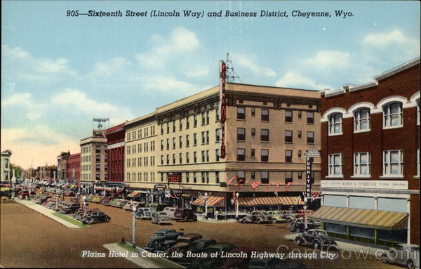 Sixteenth Street (Lincoln Way) and Business District Cheyenne Wyoming